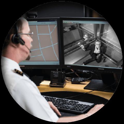 Lift eye-P Vorteil Bei Notruf Livebild aus der Kabine