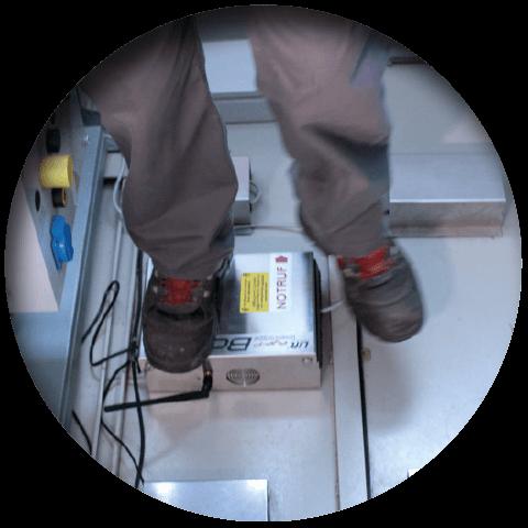 Lift eye-P Vorteil Trittfestes Gerätegehäuse